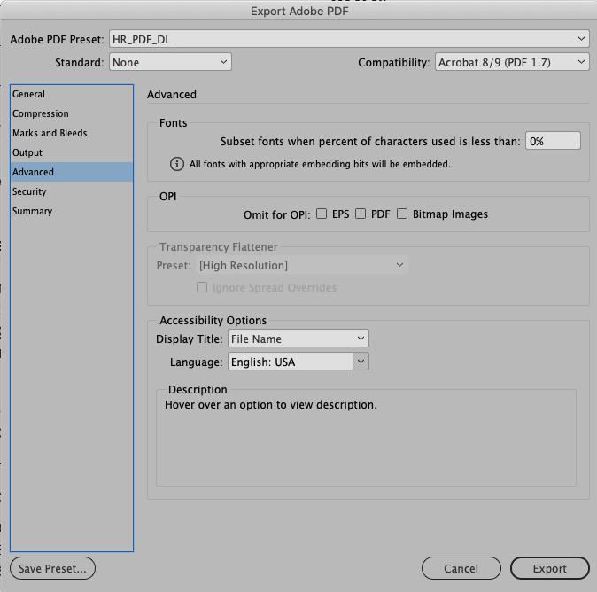 PDF Settings 5